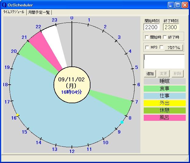 すべての講義 1日のスケジュール 円グラフ : で「1日24時間」 円グラフで「1 ...